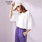SEMIR森馬-度假風潮OVERSIZE長版印花T恤-女(2色)
