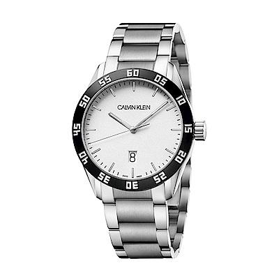 CALVIN KLEIN compete 系列手錶-白/42mm