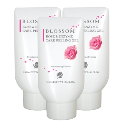 BLOSSOM 玫瑰植萃保濕修護酵素去角質凝膠120ML*3件組
