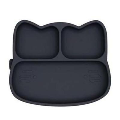 澳洲We Might Be Tiny 矽膠分隔餐盤小花貓-木炭黑