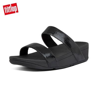 【FitFlop】LOTTIE IRIDESCENT SCALE SLIDES珍珠光系列涼鞋-女(靓黑色)