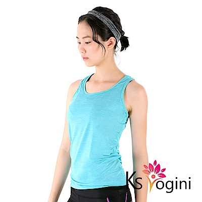 KS yogini 涼感吸排彈力坦克運動瑜珈背心 果綠