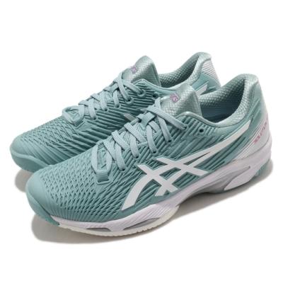 Asics 網球鞋 Solution Speed FF 2 女鞋 亞瑟士 緩衝 吸震 回彈 穩定 綠 白 1042A136400
