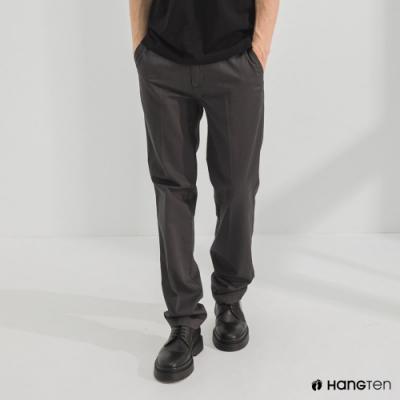 Hang Ten-男裝-經典款-REGULAR FIT打摺防皺褲-深灰色