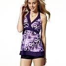 沙兒斯 泳裝 紫色花開兩件式女泳裝