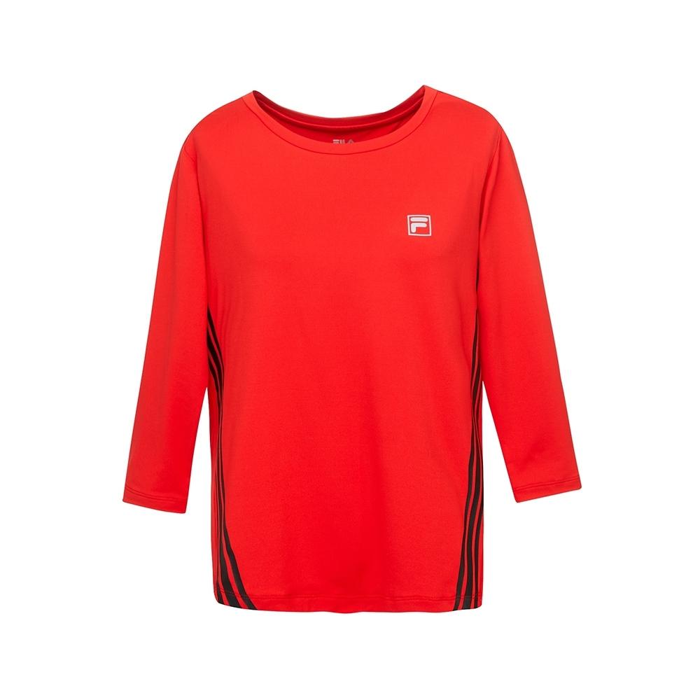 FILA 女抗UV吸濕排汗T恤-桔紅 5TEU-5310-OR