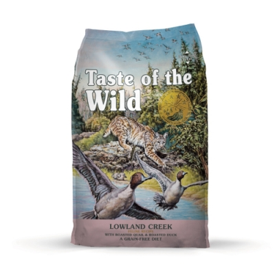 美國Taste of the Wild海陸饗宴-溪谷鴨肉烤鵪鶉(愛貓專用無榖野味) 400g 兩包組
