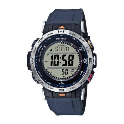 CASIO卡西歐 PRO TREK 電波 太陽能電力 戶外探險 雙錶帶套組 PRW-30AE-2_45.2mm