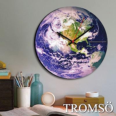 TROMSO宇宙時代無框畫時鐘-地球