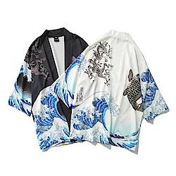 BuyGlasses 日系海浪神龍鯉魚罩衫