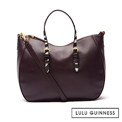 LULU GUINNESS JULIA 手提包 (茄紫)