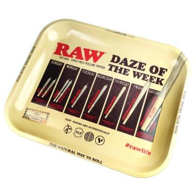 RAW 西班牙進口-DAZE TRAY(大款)-金屬製捲煙盤/鐵盤/收納盤/托盤