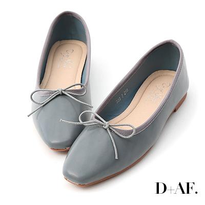 D+AF 氣質甜心.小方頭芭蕾平底娃娃鞋*藍