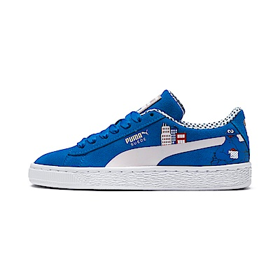 PUMA-Sesame Str 50 Suede Jr 大童運動鞋-靛藍色