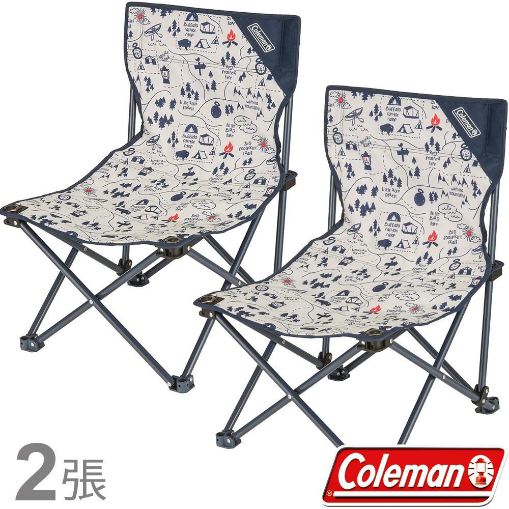 Coleman 33437露營地圖樂趣椅(二入) 小型低座椅/野餐摺疊椅/露營休閒椅童軍椅