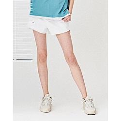 NAVY-斜紋刷破短褲-情侶款(三色)-女【TNC020】