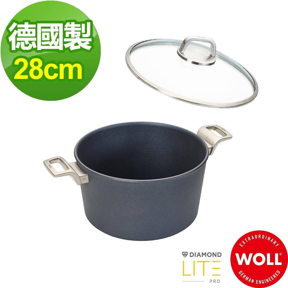 德國 WOLL Diamond Lite Pro 鑽石系列28cm 深湯鍋(含蓋)
