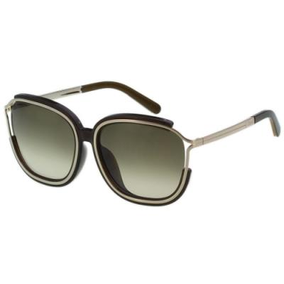CHLOE 太陽眼鏡 方框 經典款(黑色)CE694SA