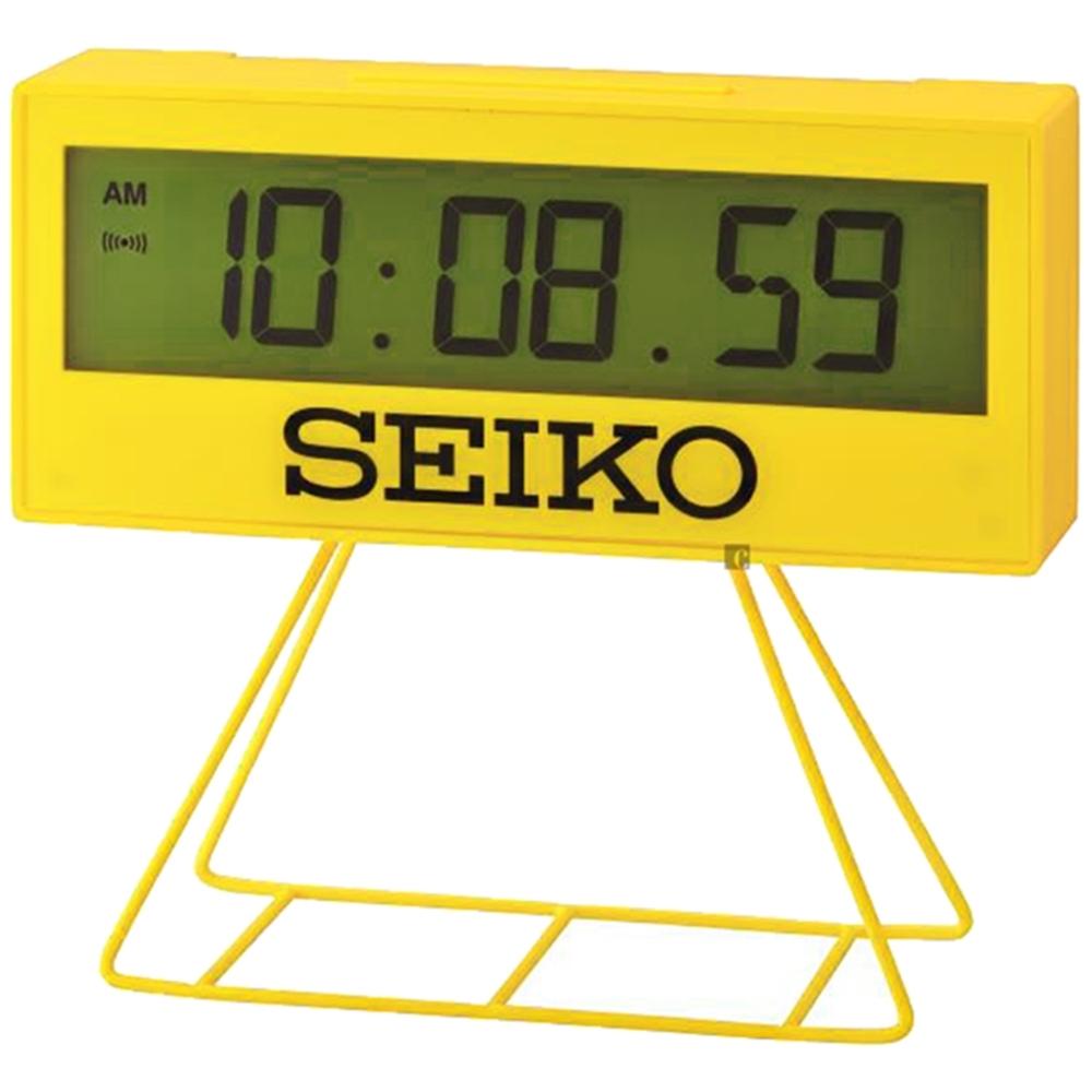 SEIKO 精工 城市路跑電子桌鐘(QHL083Y)