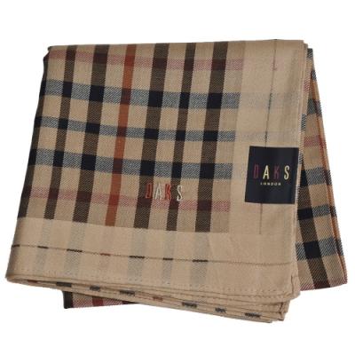 DAKS 經典格紋字母LOGO帕領巾(卡其)