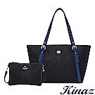 KINAZ 慶祝雙十托特包1+1完美組合-煙燻深藍-模特兒系列