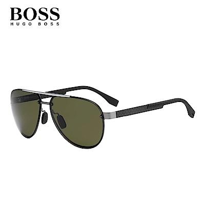HUGO BOSS- BOSS 0811/F/S 飛行太陽眼鏡 黑色
