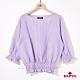 BRAPPERS 女款 格紋縮口造型五分袖襯衫-紫 product thumbnail 1