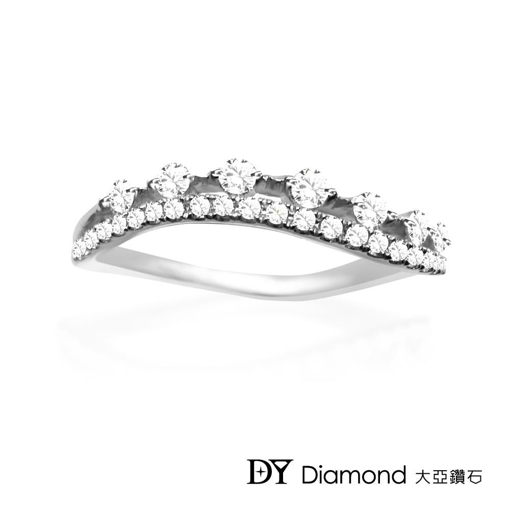 DY Diamond 大亞鑽石  L.Y.A輕珠寶 18K白金 輕奢 鑽石線戒