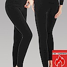 EROSBODY 女日本機能纖維蓄熱保暖發熱褲 黑色