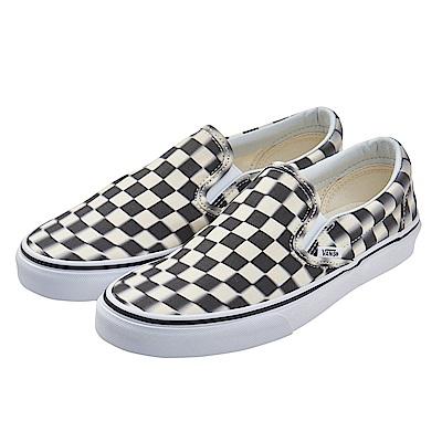 (女)VANS Classic Slip-On 眩暈棋盤格休閒懶人鞋*黑白