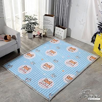 FOCA萌系柴犬  北歐簡約-100%棉感透氣多功能地墊-韓國設計(遊戲墊/床鋪墊)