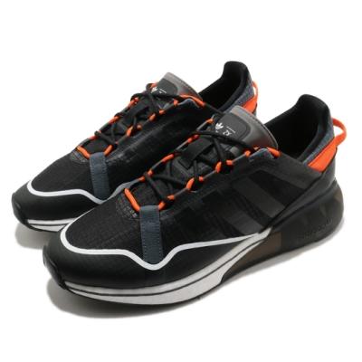 adidas 休閒鞋 ZX 2K Boost Pure 男鞋 愛迪達 三葉草 緩震 科技感 穿搭推薦 黑 橘 H06569