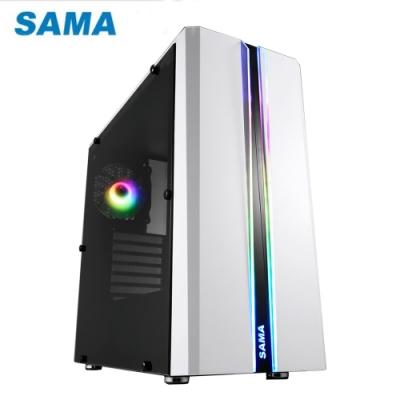 SAMA 先馬 SABD02 (W) 煥彩戰士 PRO (白) 透側 ARGB 電腦機殼