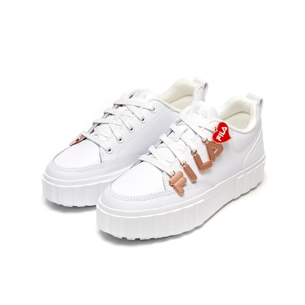 FILA SANDBLAST LOW PENDANT 女運動鞋-白 5-C122V-155