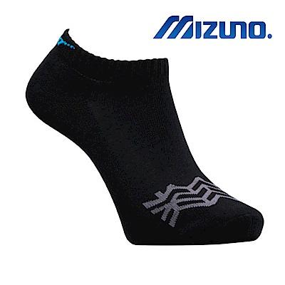 MIZUNO 男運動厚底襪 5入 黑X藍 32TX910492