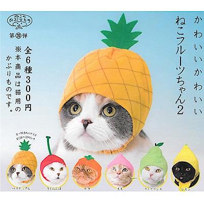 全套6款 日本正版 貓咪專屬頭巾 P8 水果篇2 扭蛋 轉蛋 貓咪頭巾 179800