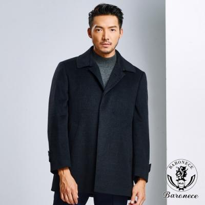 BARONECE 經典羊毛長版保暖大衣(615202-10)