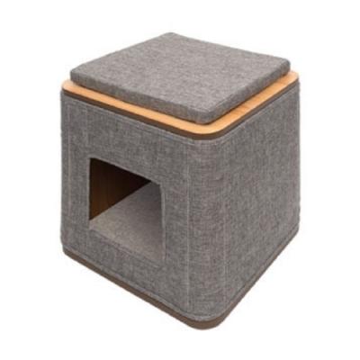 赫根Hagen Vesper貓用實木家具《方塊積木屋》52091