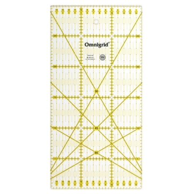 日本可樂牌Clover雙色拼布尺15×30cm定規尺57-622平行線尺30°45°60°斜角分色線條尺洋裁縫紉尺