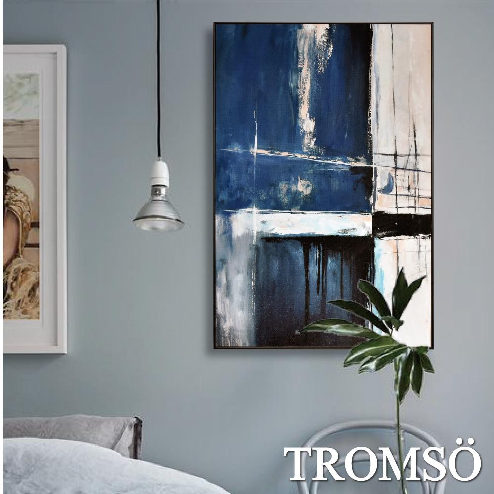 TROMSO 北歐生活版畫有框畫-湛藍冰河WA76