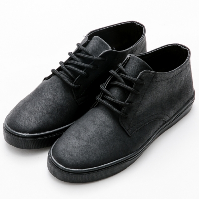 River&Moon休閒鞋 MIT復古Q軟綁帶休閒鞋-黑