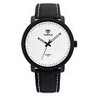 YAZOLE 亞卓倫320-質感型男-經典復古風格麂皮手錶