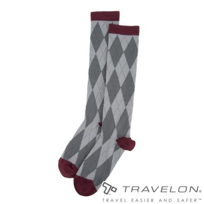 【Travelon】舒適型壓力襪TL-12199菱格/刺激血液循環/舒緩腫脹/長途飛行/辦公久坐者適用