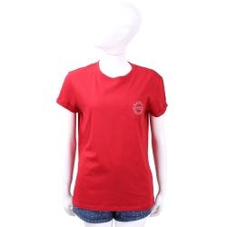KARL LAGERFELD K/CITY LOGO標章設計紅色棉質T恤