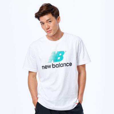 New Balance 懷舊LOGO短袖上衣 AMT93583WT 男性 白色