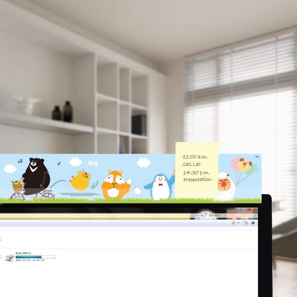 OSHI歐士 電腦螢幕留言備忘板-PLAY