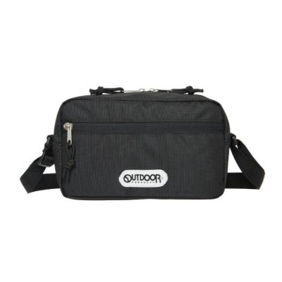 【OUTDOOR】橫式側背包-黑色 OD291108BK