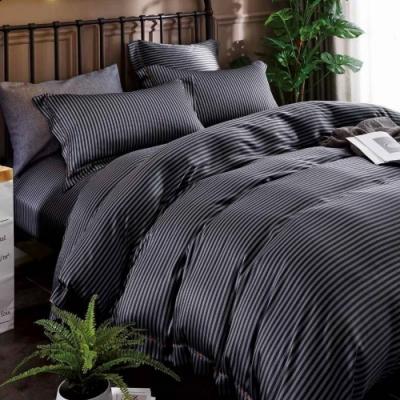 LAMINA 西舍(條紋) 雙人100%天絲四件式兩用被套床包組