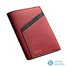 俬品創意 設計款紙革護照夾 (醇酒紅色)