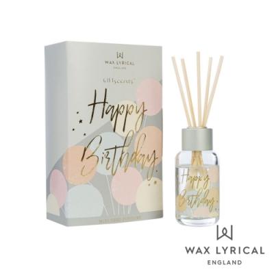 英國 Wax Lyrical Giftscents 禮品話語系列 室內擴香瓶-Happy Birthday 40ml